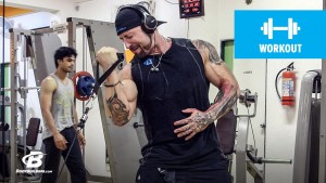 single arm cable biceps