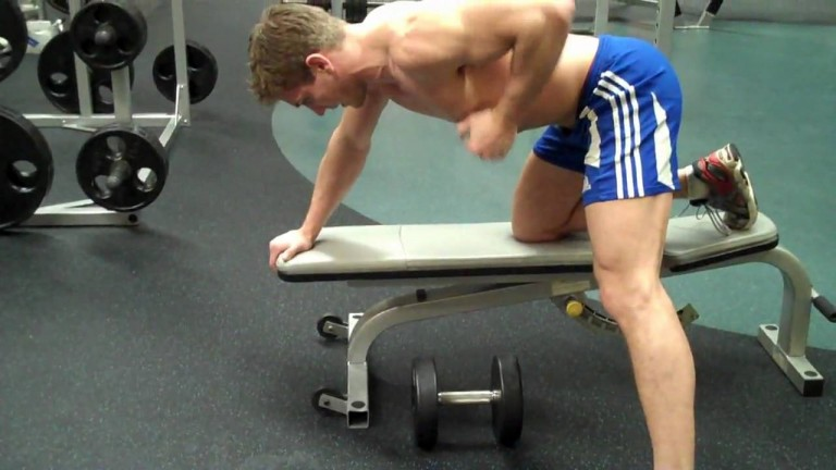 Bent Over One Arm Dumbbell Triceps