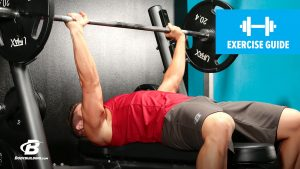 Barbell bench press medium-grip